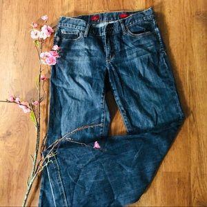 Express X2 Eva Full leg dark wash jeans 6